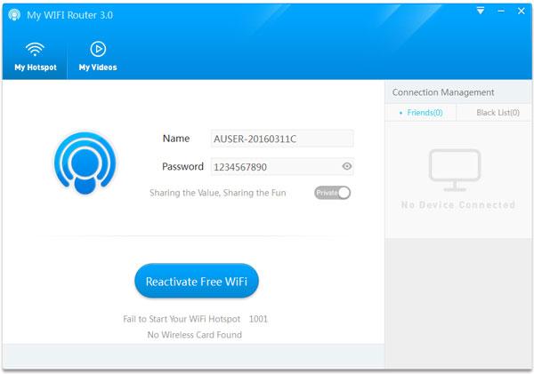 My WIFI Router(电脑wifi热点软件) V3.0.64