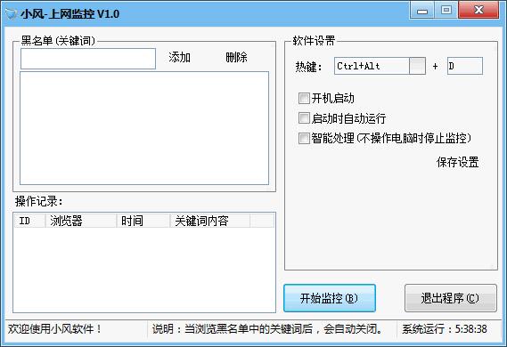 小风上网监控 V1.0 绿色版