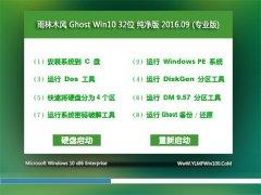 雨林木风 Ghost W10 32位 纯净版 V2016.09(自动激活)