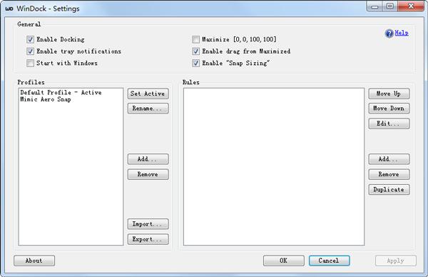 WinDock(窗口缩放工具) V1.1.2