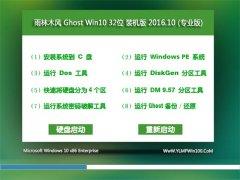 雨林木风Ghost Win10 x32 官网装机版2016年10月(完美激活)