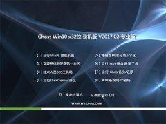 大地系统Ghost Win10 X32位 抢先装机版2017.02月(免激活)