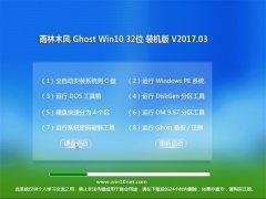 雨林木风Ghost Win10 (32位) 精致装机版2017V03(绝对激活)